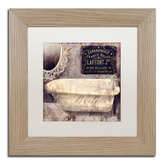Color Bakery 'Le Bain Paris I' Matted Framed Art