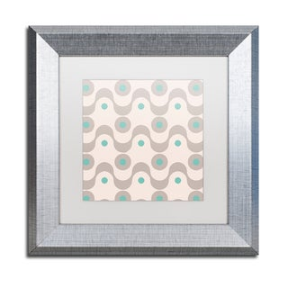 Color Bakery 'Fifties Patterns III' Matted Framed Art
