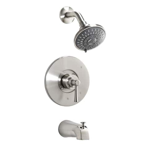 Essential Style NEO90CCP Single Handle Bathtub and Shower Faucet, Polished Chrome