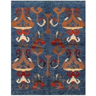Herat Oriental Afghan Hand-knotted Vegetable Dye Gabbeh Wool Rug (5'2 x 6'8)