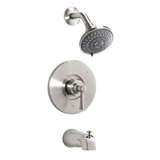 Essential Style Nickel-finished Brass 1-handle Bathtub/Shower Faucet