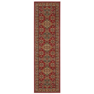 Rug Squared Ramsey Red Area Rug (2'2 x 7'6)
