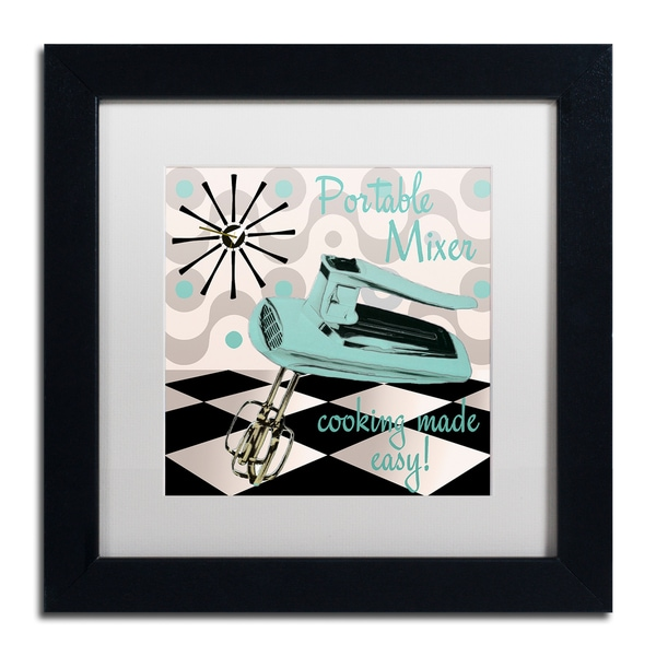 Color Bakery 'Fifties Kitchen III' Matted Framed Art - Black
