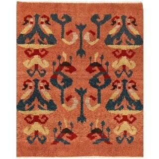 Herat Oriental Afghan Hand-knotted Vegetable Dye Gabbeh Wool Rug (5'2 x 6'4)