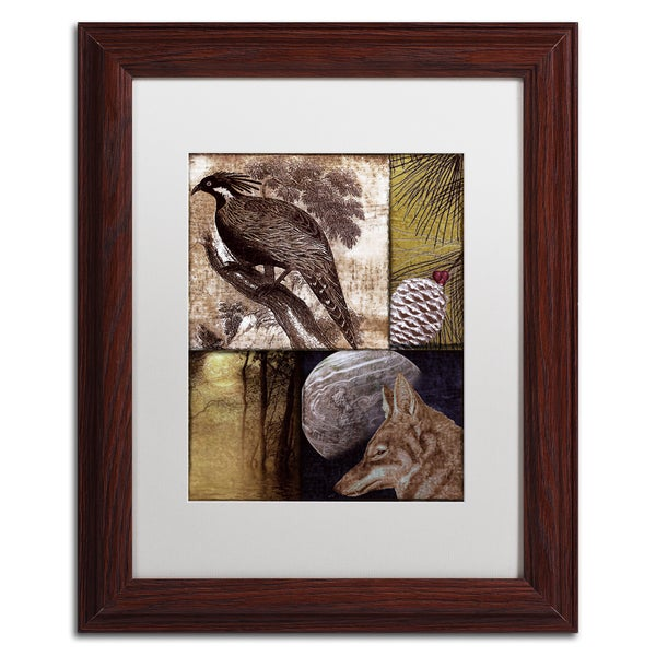 Color Bakery 'On the Hunt III' Matted Framed Art - Grey