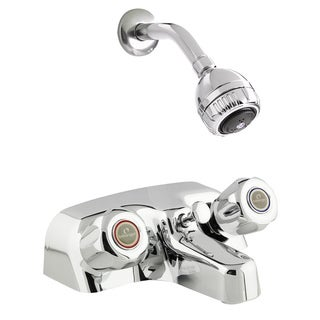 3068 Polished Chrome 2-Handle Bathtub / Shower Faucet Set