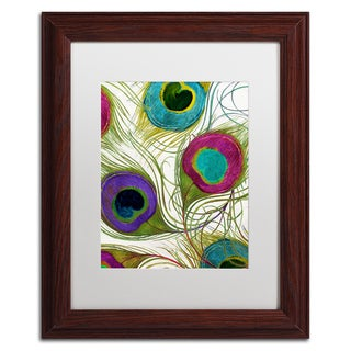 Color Bakery 'Peacock Feathers I' Matted Framed Art