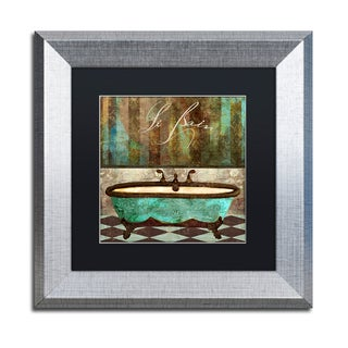 Color Bakery 'Le Bain Aqua' Matted Framed Art