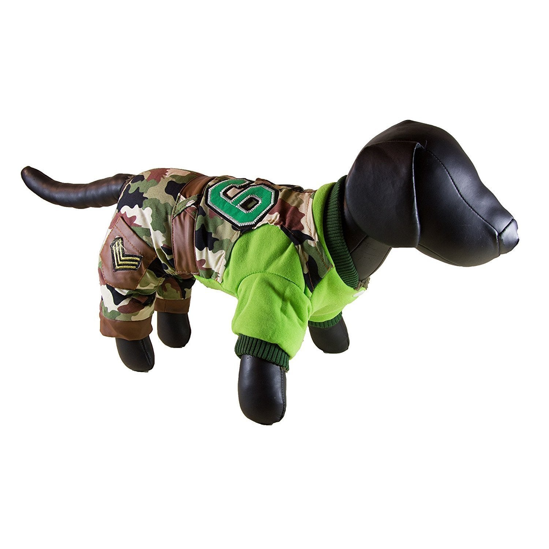 Petcessory Green Camouflage Cotton 4-leg Dog Parka (Large...