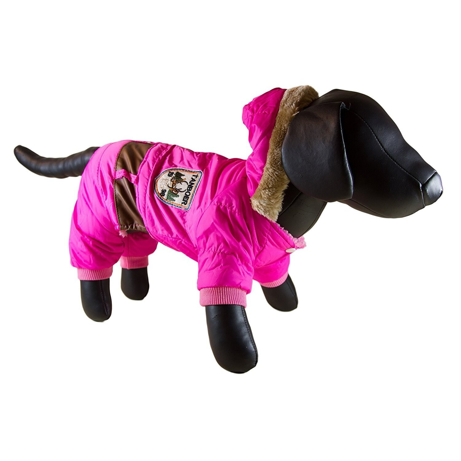 Petcessory Light Pink Cotton Warm Parka 4-leg Dog Hoodie ...
