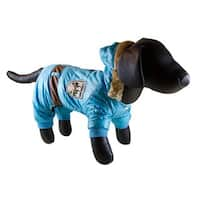 Petcessory Light Blue Cotton Warm Parka 4-leg Dog Hoodie Jacket