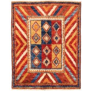 Herat Oriental Afghan Hand-knotted Vegetable Dye Gabbeh Wool Rug (4'11 x 6'5)
