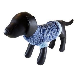 Petcessory Blue Wool Turtleneck Dog Sweater