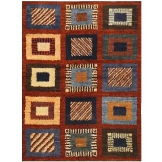 Herat Oriental Afghan Hand-knotted Vegetable Dye Gabbeh Wool Rug (6'7 x 8'10)