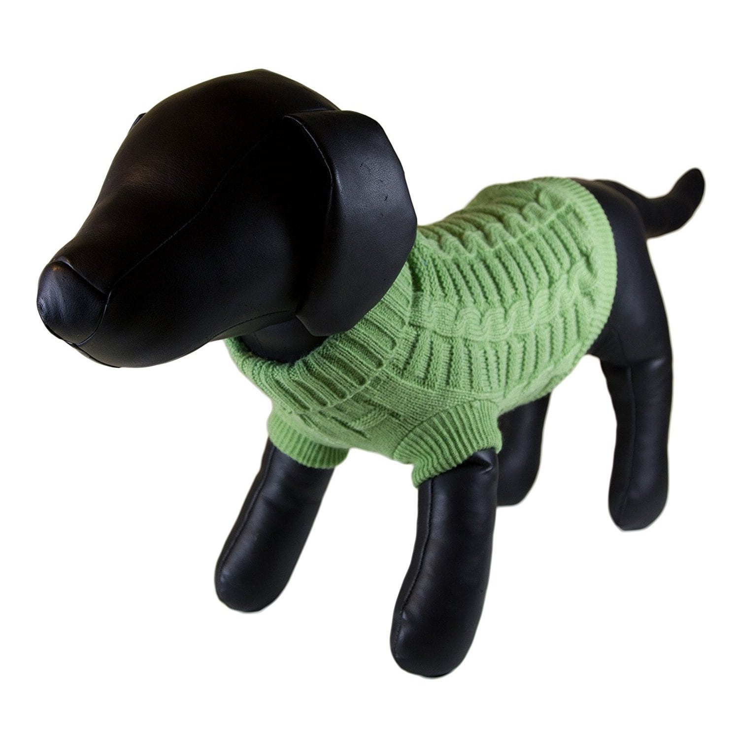 Petcessory Green Dog Turtleneck Sweater (Small), Size S