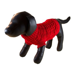 Petcessory Red Woolen Dog Turtleneck Sweater