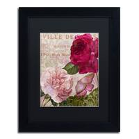 Color Bakery 'February' Matted Framed Art - Pink