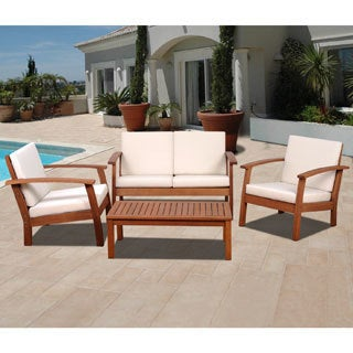 Clay Alder Home Barclay 4-piece Patio Conversation Set