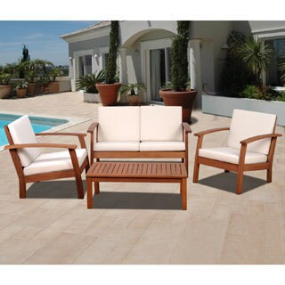 Clay Alder Home Barclay 4-piece Patio Conversation Set (4 options available)