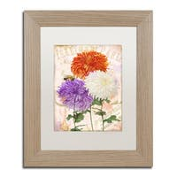 Color Bakery 'Chrysanthemums' Matted Framed Art - Multi
