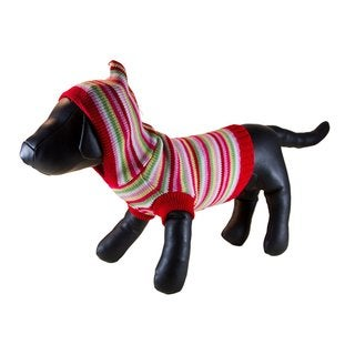 Petcessory Multicolor Cotton Striped Dog Hoodie