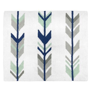 Sweet Jojo Designs Grey Mint Mod Arrow Collection Floor Rug - 30 x 36