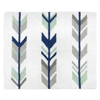 Sweet Jojo Designs Grey Mint Mod Arrow Collection Floor Rug