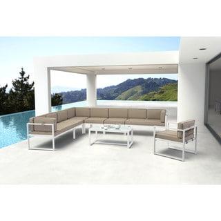 Havenside Home Campeche Golden Beach Chaise White & Taupe