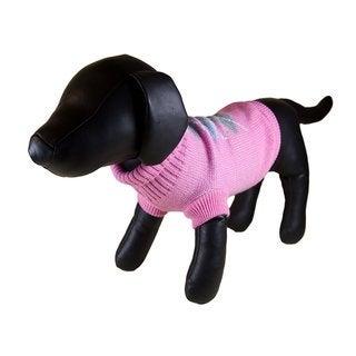 Petcessory Pink Cotton Argyle Turtleneck Dog Sweater
