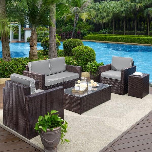 Shop Palm Harbor 5-Piece Outdoor Wicker Conversation Set ...