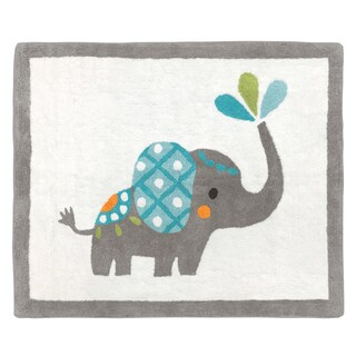 Sweet Jojo Designs Mod Elephant Collection Floor Rug