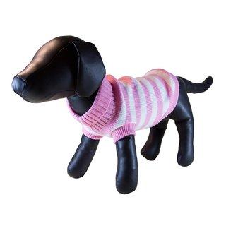 Petcessory Pink Cotton Stripe Turtleneck Dog Sweater