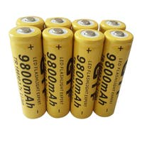 Universal 18650 3.7V 9800mAh Li-ion Rechargeable Battery Cell (Pack of 8)