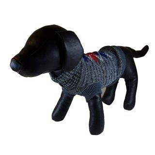 Petcessory Dark Grey Argyle Turtleneck Dog Sweater
