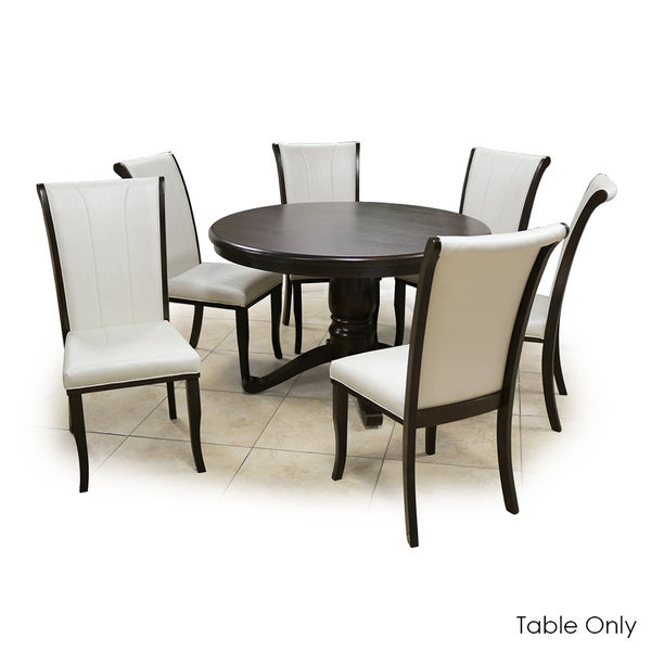 Warehouse Of Tiffany Kiko Brown Walnut 47 Inch Round Pedestal Dining Table    Free Shipping Today   Overstock.com   21310416