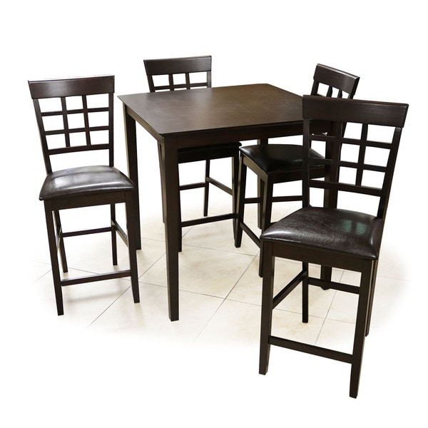 Shop Interlocking Bar Table And Chairs Espresso 5 Piece