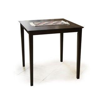 Warehouse of Tiffany Interlocking Square Espresso Wood 36-inch High Bar Table