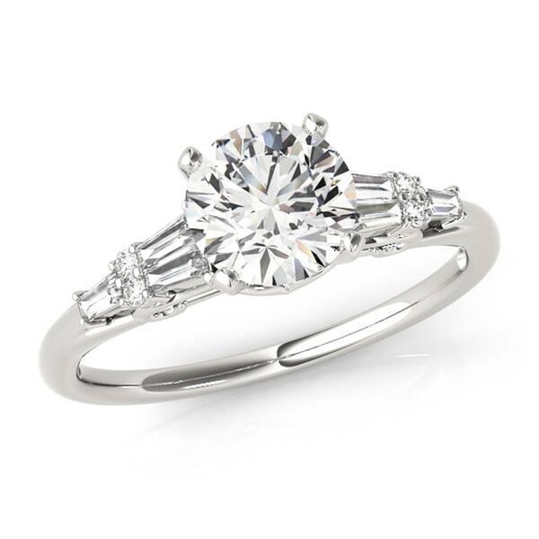 8eaad3ec5 Transcendent Brilliance Five Stone Diamond Engagement Ring 14k Gold 1 1/10  TDW ...