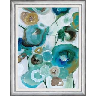 Melissa Van Hise 'Sapphire Blooms I' Framed Wall Art