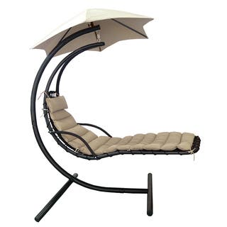 Island Retreat Hanging Lounge w/ Shade Canopy in Khaki|https://ak1.ostkcdn.com/images/products/14789819/P21310441.jpg?impolicy=medium