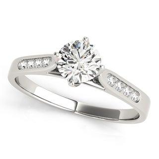 Transcendent Brilliance Channel Set Petit Diamond Engagement Ring 14k Gold 5/8 TDW