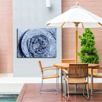 Ready2HangArt Indoor/Outdoor Wall D.cor 'Blue Tranquility IV' in ArtPlexi by NXN Designs - Blue