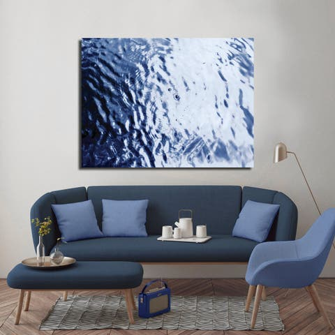 Ready2HangArt Indoor/Outdoor Wall D.cor 'Blue Tranquility III' in ArtPlexi by NXN Designs - Blue