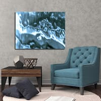 Ready2HangArt Indoor/Outdoor Wall D.cor 'Blue Tranquility' in ArtPlexi by NXN Designs - Blue