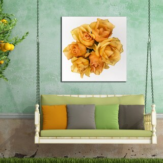 Ready2HangArt Indoor/Outdoor Wall D.cor 'Just Because' in ArtPlexi by NXN Designs - Orange