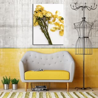 Ready2HangArt Indoor/Outdoor Wall Decor 'She Loves Me' in ArtPlexi by NXN Designs - Yellow
