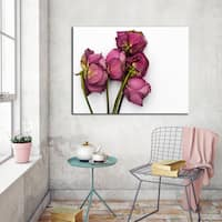 Ready2HangArt Indoor/Outdoor Wall D.cor 'Thinking of You III' in ArtPlexi by NXN Designs - Green/Pink