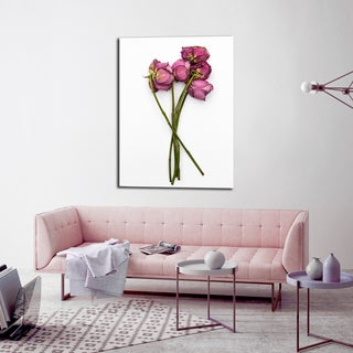 Ready2HangArt Indoor/Outdoor Wall Decor 'Thinking of You II' in ArtPlexi by NXN Designs - Green/Pink