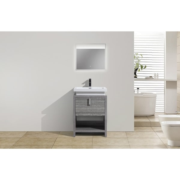 Shop moreno bath mol 24 inch free standing modern bathroom vanity with reinforced acrylic sink for Freestanding 24 inch bathroom vanity