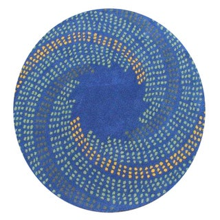 Round Handmade New Zealand Wool Alliyah Rug